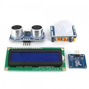 Micro USB UNO R3 BreadBoard Advance Kit with Touch Sensors / PIR motion / LCD Display Module